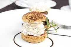 Creamy chocolate desserts royalty free stock photography