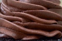 Creamy chocolate mousse royalty free stock photography