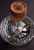 Creamy chocolate orange dessert. In a glass Stock Images