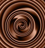 Creamy chocolate swirl Royalty Free Stock Image