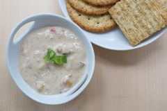 Creamy Clam Dip and Crackers Stock Image