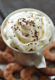 Creamy coffee and cookies Royalty Free Stock Images
