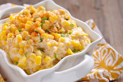 Creamy corn Stock Photo