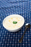 Creamy corn soup Stock Images