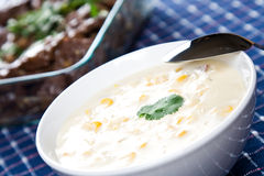 Creamy corn soup Royalty Free Stock Photography
