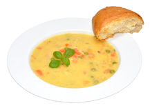 Creamy Country Vegetable Soup Royalty Free Stock Photo