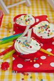 Creamy Cupcakes Royalty Free Stock Photography