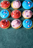 Creamy cupcakes Royalty Free Stock Images