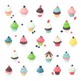 Creamy Cupcakes Miniatures Royalty Free Stock Images