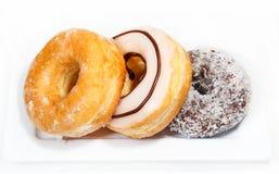 Creamy delicious donut (doughnut) isolated Royalty Free Stock Image