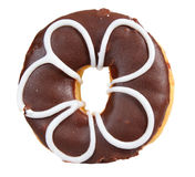 Creamy delicious donut (doughnut) isolated Royalty Free Stock Photography