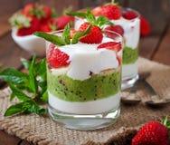 Creamy dessert Stock Photos