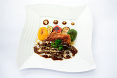 Creamy dory dish Royalty Free Stock Photo