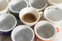 Creamy espresso coffee Stock Photos