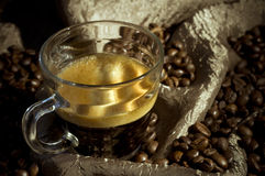 Creamy espresso coffee Stock Photography