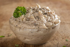 Creamy fish pate in bowl Royalty Free Stock Photo
