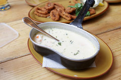 Creamy fish soup Royalty Free Stock Images
