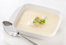 Creamy soup Royalty Free Stock Image
