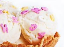 Creamy ice-cream cone Stock Photos