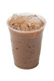 Creamy Iced Coffee Cappuccino Isolation On White Royalty Free Stock Photo