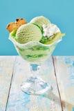 Creamy kiwifruit speciality Italian ice-cream Stock Photo