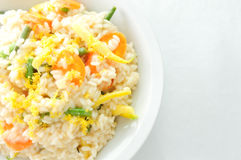 Creamy lemon vegetarian risotto. With vegetables Royalty Free Stock Image