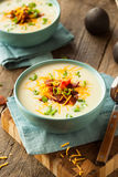Creamy Loaded Baked Potato Soup Stock Images