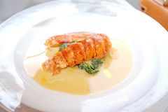 Creamy with lobster Stock Photo