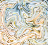 Creamy marble abstract background. Mesh liquid surface digital illustration. Stock Images