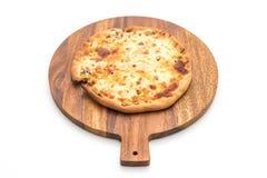 Creamy mushroom pizza Stock Photos