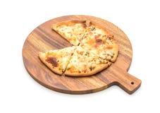 Creamy mushroom pizza Stock Photography