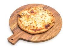 Creamy mushroom pizza Royalty Free Stock Images