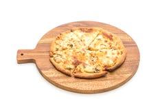 Creamy mushroom pizza Stock Photo
