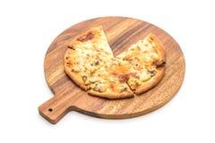 Creamy mushroom pizza Stock Image