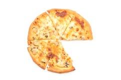 Creamy mushroom pizza Royalty Free Stock Photo