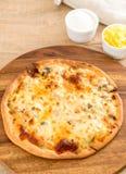 Creamy mushroom pizza Royalty Free Stock Photography