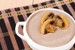 Creamy mushroom soup. Stock Photos