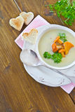 Creamy mushroom soup Stock Images