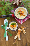 Creamy mushroom soup Stock Photo