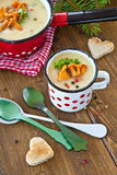 Creamy mushroom soup Royalty Free Stock Photography
