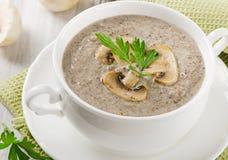 Creamy mushroom soup Stock Photography