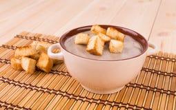 Creamy mushroom soup. Royalty Free Stock Photos