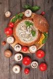 Creamy mushroom soup Royalty Free Stock Photos