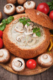 Creamy mushroom soup Royalty Free Stock Images
