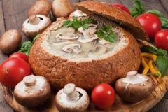 Creamy mushroom soup Stock Image