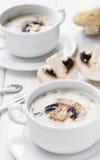 Creamy mushroom soup Stock Photos
