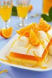 Creamy Orange Jelly Stock Photography