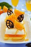 Creamy orange jelly Stock Images