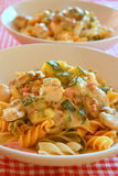 Creamy pasta Royalty Free Stock Images