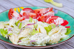 Creamy Pasta Salad Royalty Free Stock Image